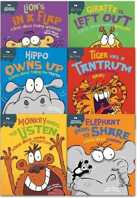 Sue Graves Behaviour Matters Series 6 Books Collection Set (Hippo Owns Up, Lions