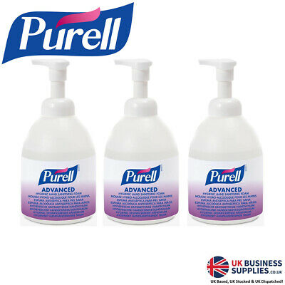 Purell 5796-04-EEU00 Advanced Hygienic Hand Sanitising Foam 535ml Pump Bottle