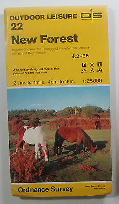 1983 Old Vintage OS Ordnance Survey 1:25000 Outdoor Leisure Map 22 New Forest