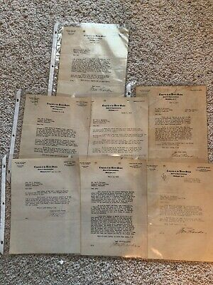 Congress Of The United States House Of Representative Letters By Walter Chandler