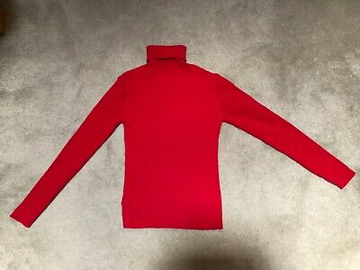 GIRLS NEXT POLO NECK JUMPER - AGE 11 Yrs - Red - Great Condition
