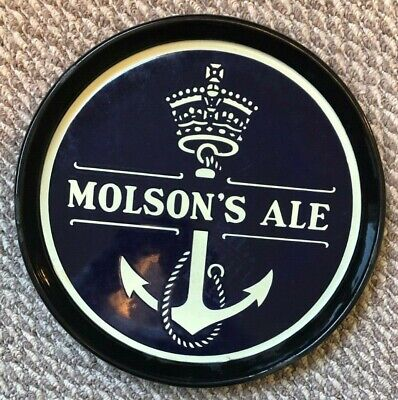 Molson's Ale 13 Inch  Beer Tray. Porcelain Nice!! Canada Canadian