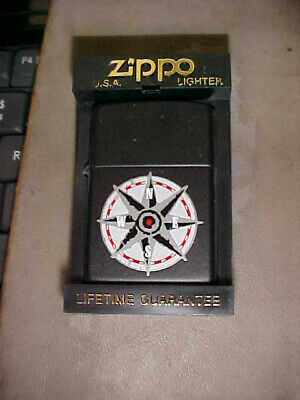 Zippo Compass Points Lighter, Black Matte Finish, New In The Box