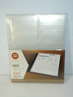 """Arc by Staples Poly Business Card Holders Album Pages 11/"""" x 8.5/"""" Office NEW"""
