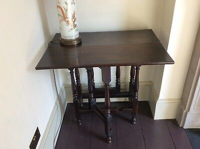 17th Century Oak Gate-Leg Table Small Folding Centre Occasional Possibly Writing