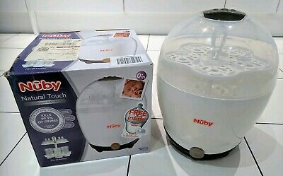 NUBY White Natural Touch Electric Steam Steriliser *Boxed*