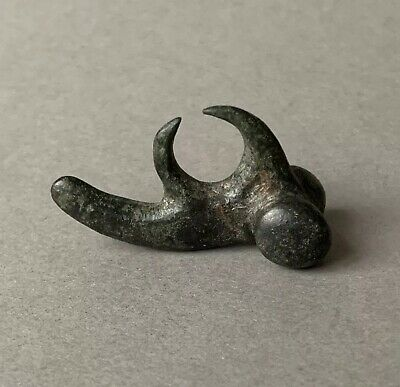 Well Preserved Chunky Ancient Roman Bronze Erotic Phallic Amulet