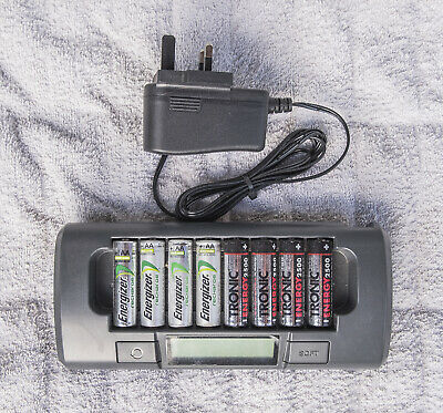 Maha MH-C800S precision 1-8 cell smart charger, 8 AA batteries