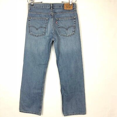 Levis 550 Jeans Boys 18R  Relaxed Fit Distressed Blue Denim 29x29 Men