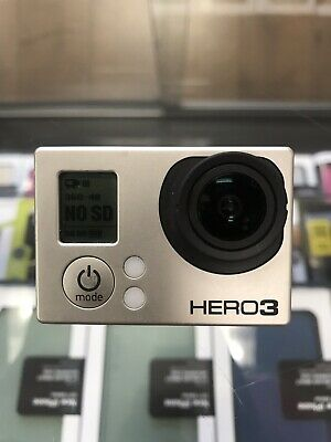 GoPro HERO3 Action Camera - Silver Edition Hero 3 Go Pro As Is