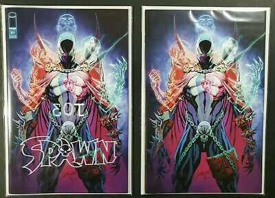 SPAWN #301 (2019) J. Scott Campbell-Variant & VIRGIN Variant (NM+ 9.6 or Better)