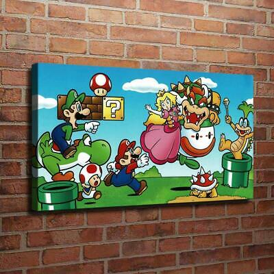 """12""""x22""""Super Mario Poster HD Canvas prints Painting Home Decor picture Wall art"""