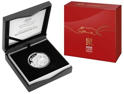 2020 Lunar Year of the Rat 1oz Silver Proof Domed Coin
