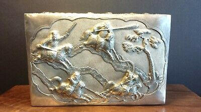 Stunning Antique Chinese Silver Repousse Box with The Warring States Periods