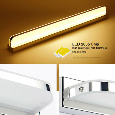 Modern Bathroom Vanity LED Light Acrylic Front Mirror Toilet Wall Lamp Fixture