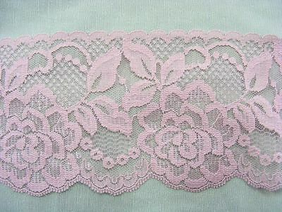 Flat Lace Dusty Rose 70mm wide 1 metres (2144)
