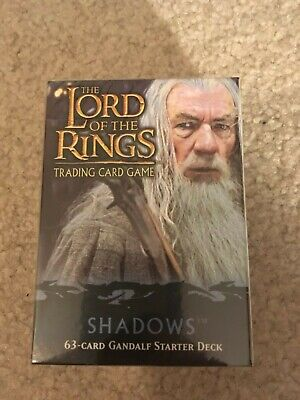 LOTR TCG Aragorn Starter Deck Box Shadows Sealed Lord of the Rings Starter Box