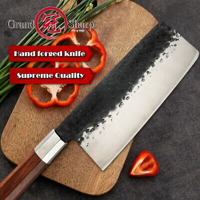 Chinese Cleaver 4cr13 Steel Chef Kitchen Knives Home Cooking Slicing Tools PRO