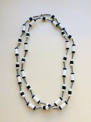 Vintage Black And White Becklace