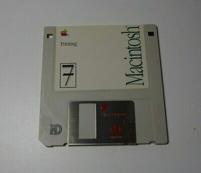 Apple Macintosh Printing - 1991 - 690-5692-A - Genuine Apple  Floppy Disk - edc
