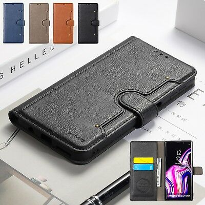 Fit Samsung Galaxy S9 S8 Plus Magnetic Flip Leather Card Wallet Phone Case Cover
