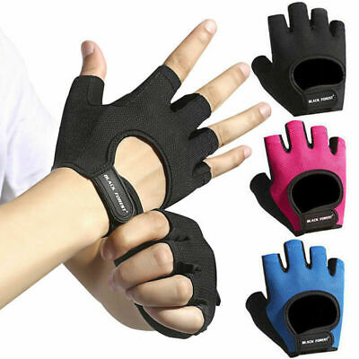 Gym Fitness Padded Gloves Men Women Ladies Weight Lifting Training Workout Grips