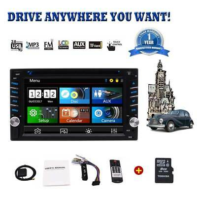 Eincar 7'' GPS Stereo 2Din Car DVD Player Subwoofer Ipod Touchscreen USB/SD SWC