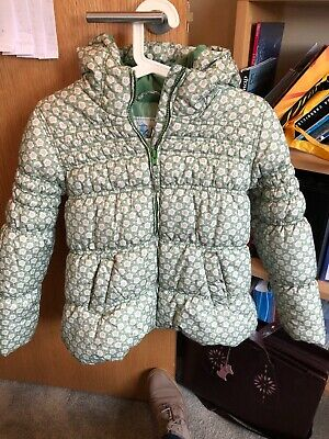 Next Girls Green Winter Coat Age 9-10yrs VGC