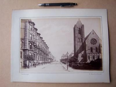 Scarborough  St Martins Church   . Victorian Photograph mounted on album card