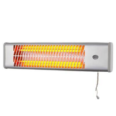 1200w Wall Mounted Bathroom Heater Quartz Heater, 2 Heat Setting
