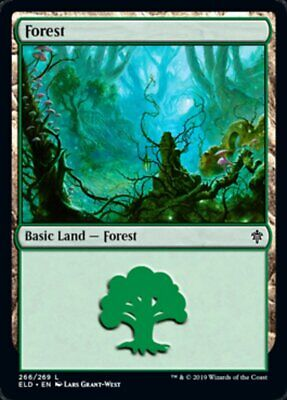 2x FORESTA - FOREST Magic ELD Mint