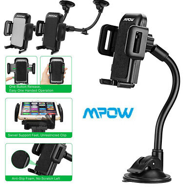 Mpow Universal 360° Long Arm Windshield Car Phone Holder Mount For Mobile Phones