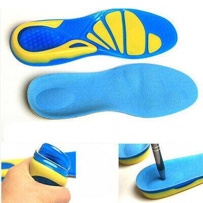 Sports Running Comfort Shoe Insoles Shock Absorption Inner Sole Foot Cushion Pad