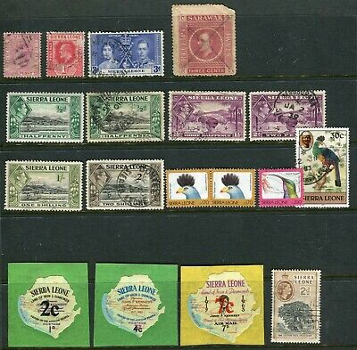 18 SIERRA LEONE STAMP COLLECTION QV to QE2