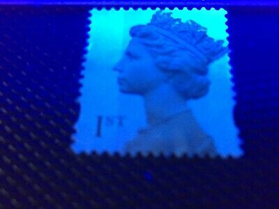 EXTRA WIDE PHOSPHOR BAND variety SG 2124 GB 1st Class Unfranked stamp (LOT T80)