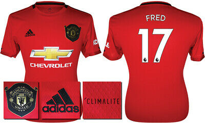 Fred 17 - 19/20 Adidas Man Utd Home Shirt = Kids Size