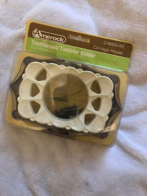 Vtg Toothbrush & Cup Holder ~ Carriage House Design Amerock Corporation ~ NEW