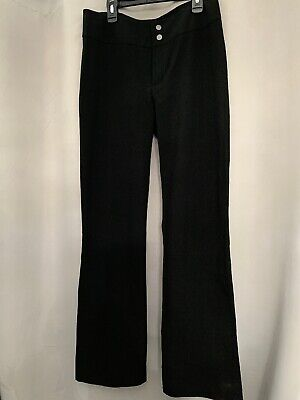 XOXO Womens Black Solid Split Calf Work Wear Dress Pants Trousers M