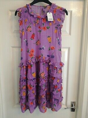 Next Girls Dress Aged 14 Years. Height 164cms. Purple. BNWT