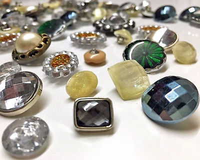 5kg Assorted Gem Stone Crystal Beads Craft Sewing Buttons Knitting Wholesale