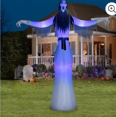 12 Ft Tall Halloween Female Ghost Airblown Inflatable-Nib