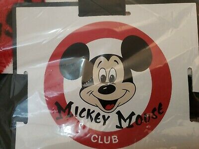 Disney Parks Blanket Mickey Mouse Club Fleece Throw Mouseketeer Black Red 60x40