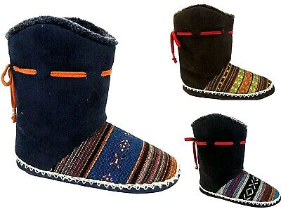 Womens Slippers Ladies Coolers Ankle Knitted Warm Winter Fur Boots Booties Boip