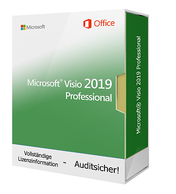 Microsoft Visio 2019 Professional 32 / 64bit- inkl. DVD, inkl. Key, Vollversion