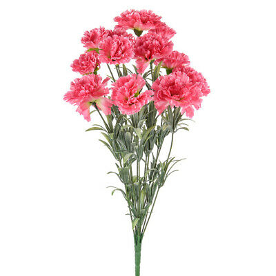 Pink Carnation Bush - 12 Stems of Artificial Flowers - Realistic Looking 42cm
