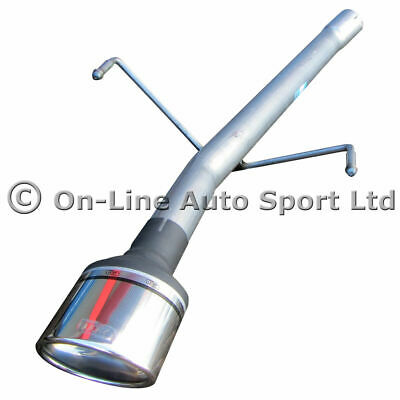 Astra Mk5 1.9 CDTi Hatch Silencer Delete Exhaust Rear Tailpipe - ULTER OVAL TIP