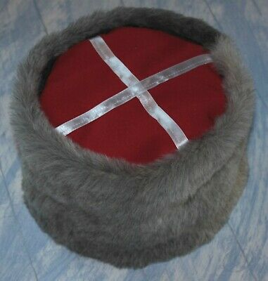 USSR Red Army Russian Cossack Hat Cap PAPAKHA sheepskin Size 8 US 64 см