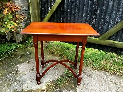 Victorian Mahogany Arts And Crafts Side Table