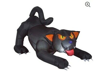 5.5 Ft Animated Head Turning Evil Black Cat Halloween Airblown Inflatable