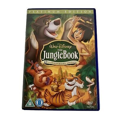 The Jungle Book Disney DVD 40th Anniversary Edition Platinum - Free Postage